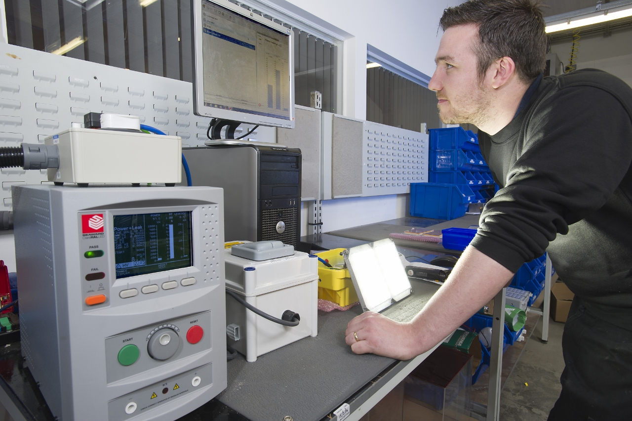 specialist compliance tester improves productivity at hadar lighting